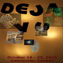 click for Invitation to Deja Vu holography and 3D exhibition by Al Razutis - Melissa Crenshaw - Gary Cullen
