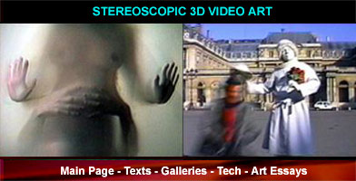 Stereoscopic 3D video art works and services