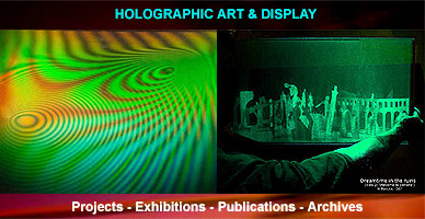 Holographic art and design - productions by Al Razutis