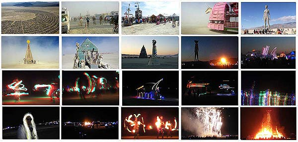 SCENES FROM BURNING MAN frames - click and enlarge